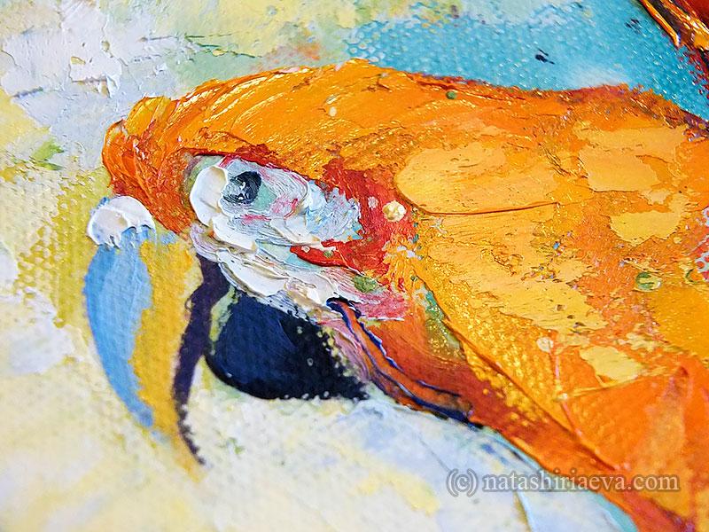 Картина с попугаем Ара