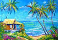 """картина с домиком у моря """"Домик у Океана"""""""