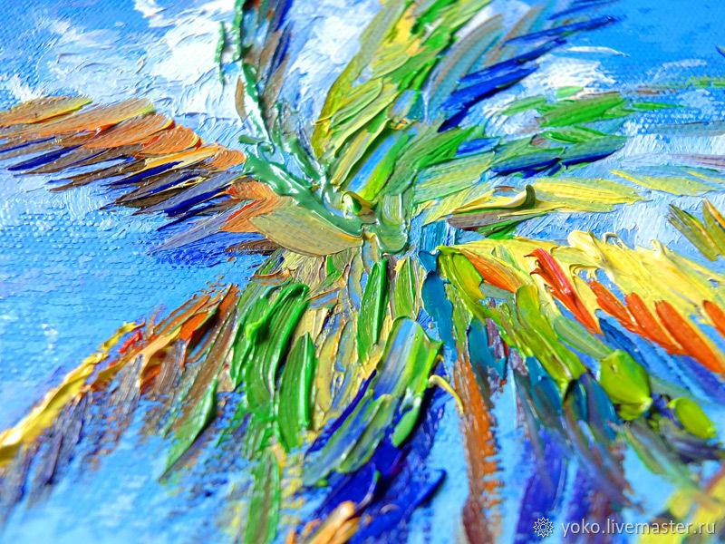 Фрагмент картины - пальма
