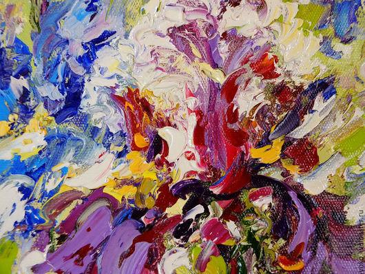 Картина маслом Ирисы в Облаке Мечты - Наталия Ширяева
