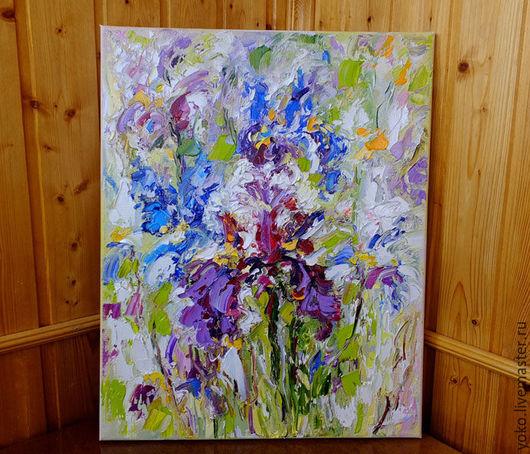 Картина Ирисы в Облаке Мечты - холст масло Наталия Ширяева