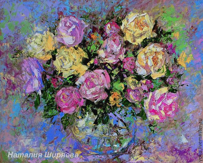 """Картина розы """"Чудо для Тебя"""" художник Наталия Ширяева"""