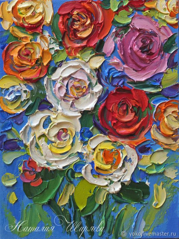 Картина Розы Импасто - художник Наталия Ширяева