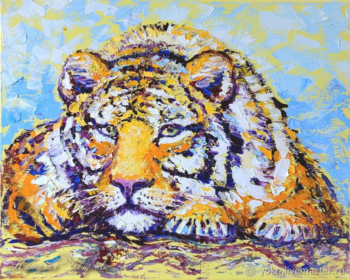 картина маслом Тигр - художник Наталия Ширяева