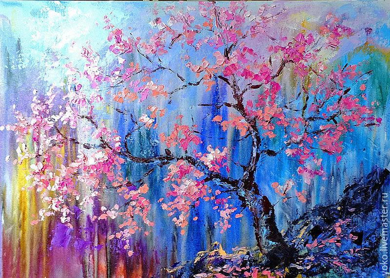 """Картина сакура """"Ты - Цветущее Дерево"""" художник Наталия Ширяева"""